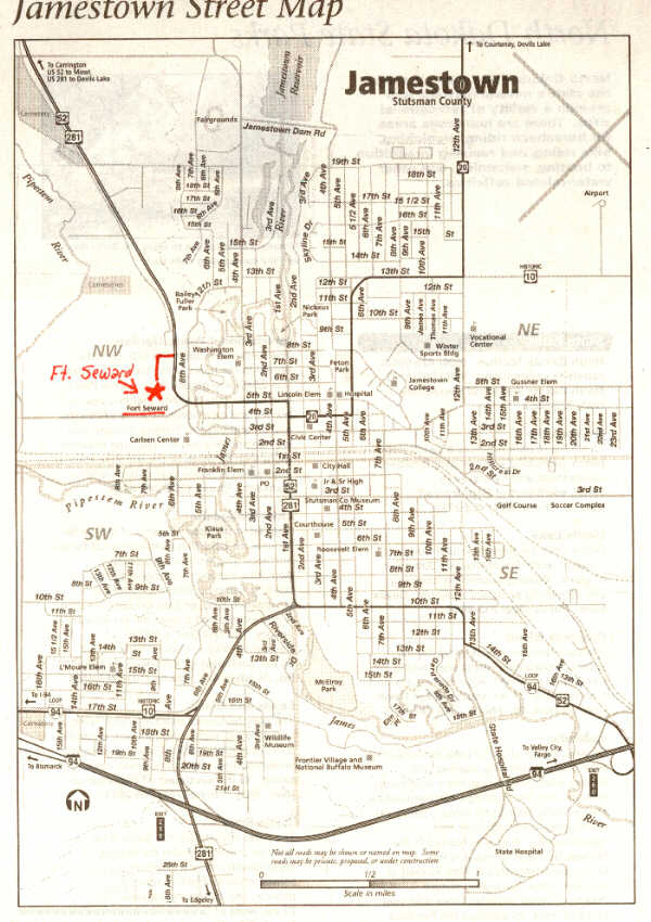 Click here for a Map of Jamestown, ND.